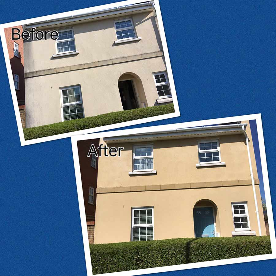 house walls cleaned swindon