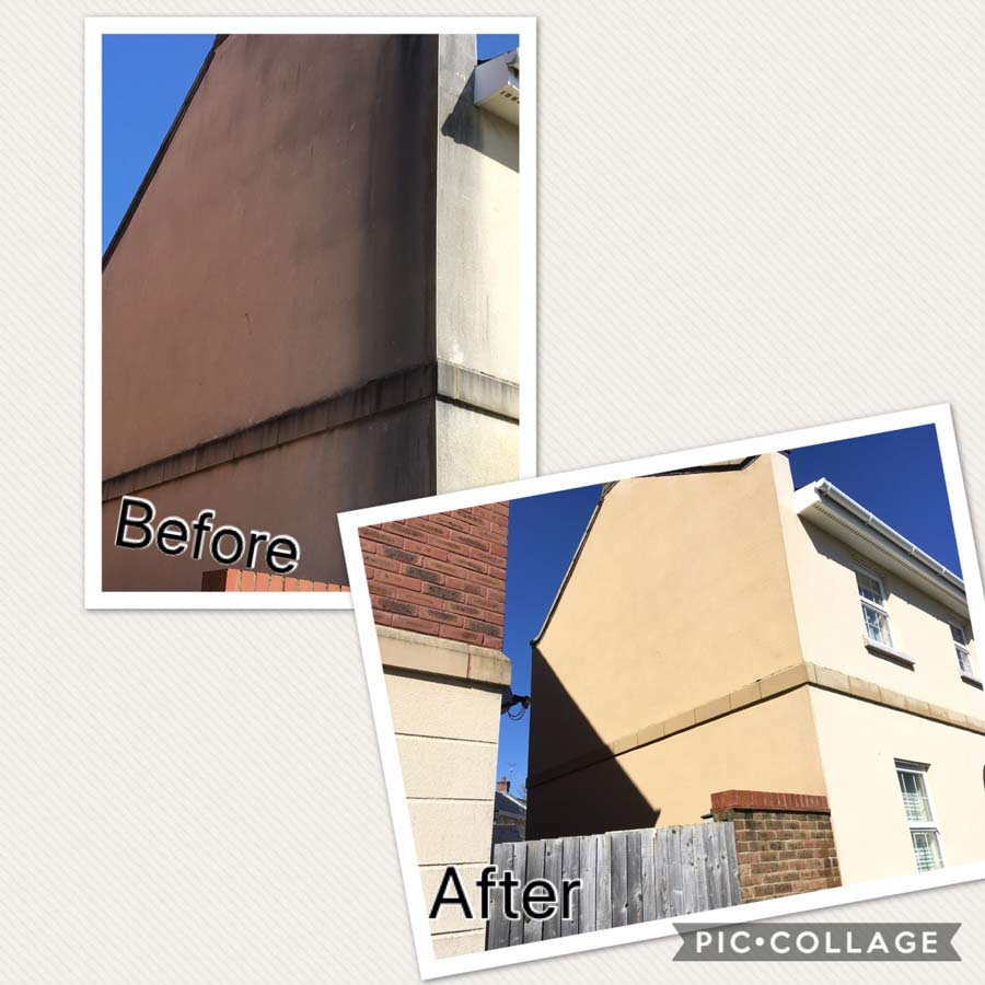 Render cleaned at property in swindon