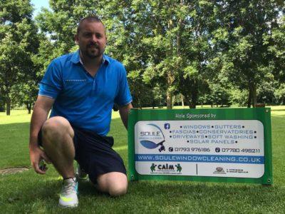 Soule Window Cleaning sponsors golfing hole